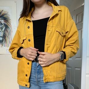 H&M Yellow Jean Jacket